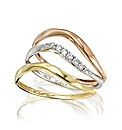 9 Carat Gold Three-colour Ring Set
