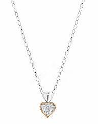 9 Ct White Gold Rose Gold-Plated Pendant