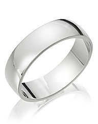 Gents Titanium 6mm Band Ring