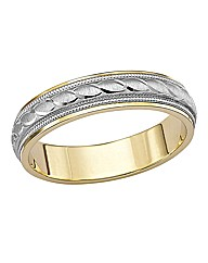 9 Carat Two-tone Gold Wedding Band