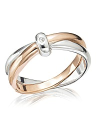 Sterling Silver & Rose Gold Vermeil Ring