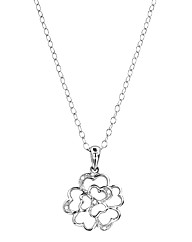 Sterling Silver and Diamond Set Pendant