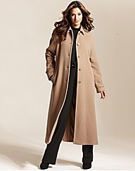 Grazia Cashmere Blend Coat Length 47in