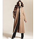 Grazia Cashmere Blend Coat Length 44in