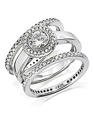 Diamonfire 3 Piece Ring Set