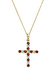 9 Carat Gold Garnet & Diamond Pendant