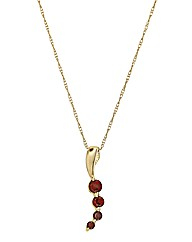 9 Carat Gold Gemstone Pendant