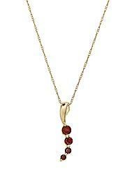 9 Carat Gold Gemstone Pendant