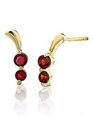 9 Carat Gold Gemstone Earrings