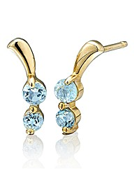 9 Carat Gold Gemstone Earrings