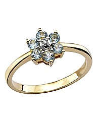 9 Carat Gold Gemstone Flower Ring