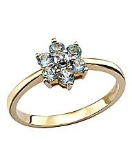 9 Carat Gold Gemstone Flower Ring