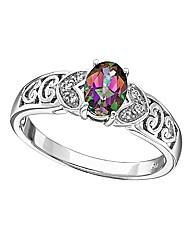 Sterling Silver & Topaz Vintage Ring