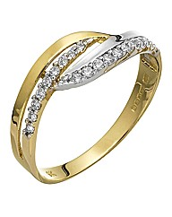 9 Carat Yellow & White Gold Ring