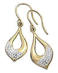 9 Carat Gold & Sterling Silver Earrings