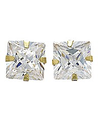 9 Carat Cubic Zirconia Square Earrings