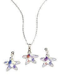 Sterling Silver & Crystal Starfish Penda