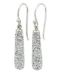Simply Silver Crystal Pave Earrings
