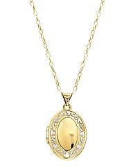 9 Carat Gold Oval Family Locket Pendant
