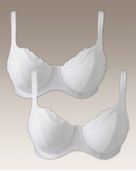 Shapely Figures White Lucy Bra Pack