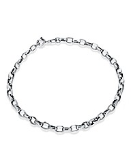 9 Carat White Gold Hollow Oval Bracelet
