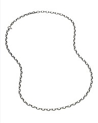 9 Carat White Gold Hollow Belcher Chain
