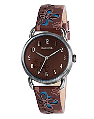 Kahuna Cut-Out Flower Strap Watch