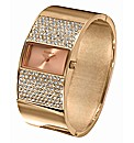 Ladies Glitzy Bangle Watch