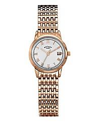 Rotary Ladies Rose-Tone Bracelet Watch