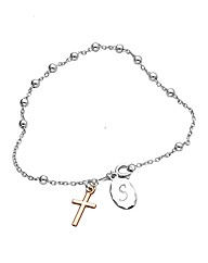 Personalised Rosary Cross Bracelet