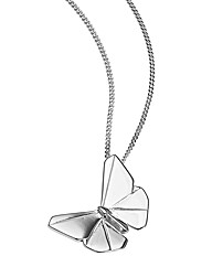 Sterling Silver Butterfly Drop Pendant