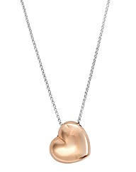Silver & Rose-Gold Plated Heart Pendant