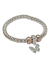 Butterfly Textured Stretch Bracelet