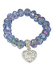 Rose Bead Stretch Bracelet