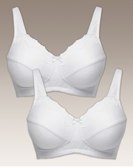 Shapely Figures White Sarah Bra Pack
