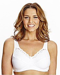 Shapely Figures White Non-Wired Bra