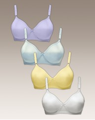 Shapely Figures Pastels Pack of 4 Bras