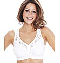 Miss Mary White Front Fastening Bra