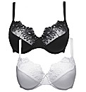 Shapely Figures Pack of 2 Bras