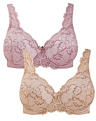 The Laura Bra - Pack of 2 Full Cup Lace