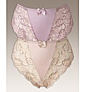Shapely Figures Pack of 2 Lace Knickers