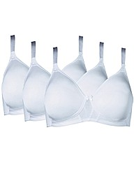 Shapely Figures White Pack of 3 Bras