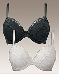 The Marilyn Bra Pack of 2 Padded Plunge