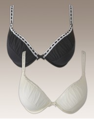 Shapely Figures Ivory Black Julie Bras