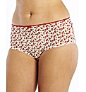 Simply Yours Cherry Print Black Knickers