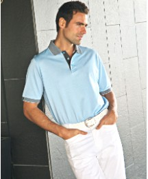 Glenmuir Birdseye Collar & Cuffs Polo