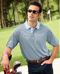 Glenmuir Herringbone Polo Shirt