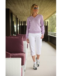 Glenmuir Stripe V-Neck Jumper