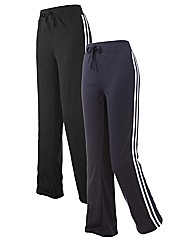 Body Star Pack Of 2 Dance Pants 30in