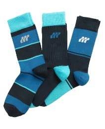 Boxfresh Blue Pack of 3 Stripe Socks
